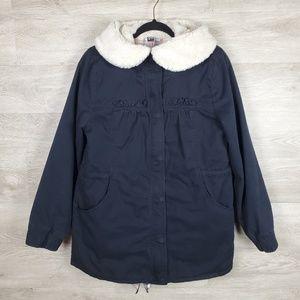 Roxy Plaid Lined Cotton Coat Size L
